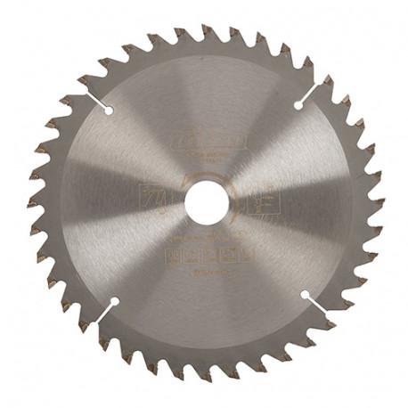 Lame de scie circulaire bois D. 165 x 20 mm x 40 dents - spéciale scie plongeante avec rail - 687802 - Triton