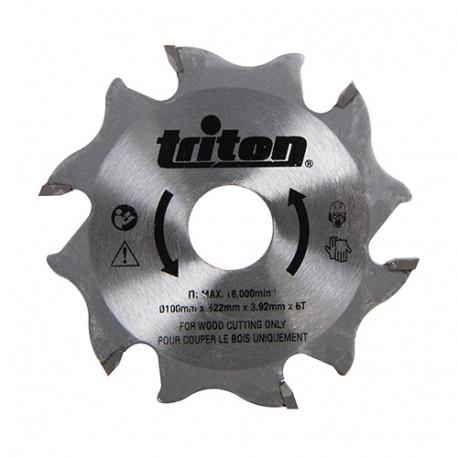 Lame D. 100 x Al. 22,2 x ép. 3,92 mm x Z6 pour fraiseuse à lamelles TBJC - 899068 - Triton