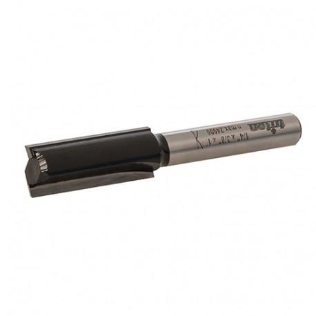 """Mèche de défonceuse à rainer droite D. 9,52 mm (3/8"""") x Q. 6,35 mm (1/4"""") x Z2 - 950303 - Triton"""