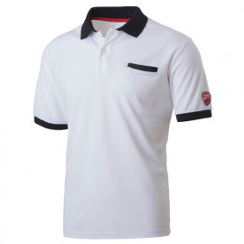 Polo avec poche INN-INDIANAPOLIS 22DUC2 Blanc - 55% coton 45% polyester - Ducati