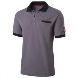 Polo avec poche INN-INDIANAPOLIS 22DUC2 Gris clair - 55% coton 45% polyester - Ducati
