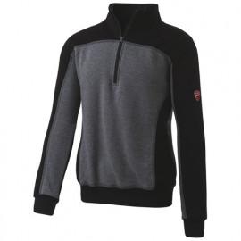 Sweat à demi zip INN-PODIUM 31DUC3 Gris mélangé-Noir - 80% coton 20% polyester - Ducati
