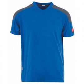 T-shirt col en V INN-RIOHONDO 20DUC3 Bleu royal-Gris - 90% coton 10% élasthanne - Ducati