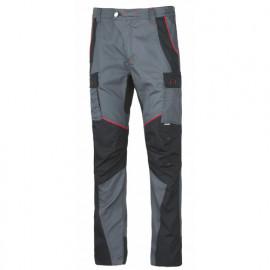Pantalon de travail Ripstop INN-ROCKER 10DUC21 Gris-Noir - 35% coton 65% polyester - Ducati