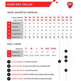 Polo manches longues INN-ASSEN 23DUC1 Rouge-Noir - 55% coton 45% polyester - Ducati