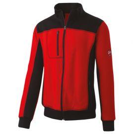 Sweat fermeture éclair complète INN-HULL 32DUC3 Rouge-Noir - 80% coton 20% polyester - Ducati