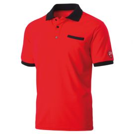 Polo avec poche INN-INDIANAPOLIS 22DUC2 Rouge - 55% coton 45% polyester - Ducati