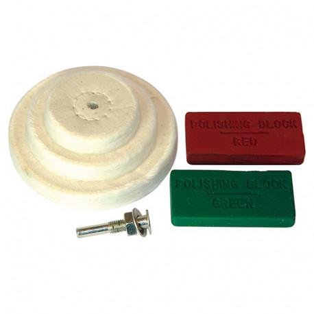 Ensemble 6 pièces pour polissage 50, 75, 100 mm - 153203 - Silverline