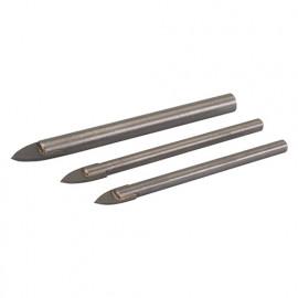 3 forets pour carrelage et verre 5, 6 et 8 mm - 217584 - Silverline