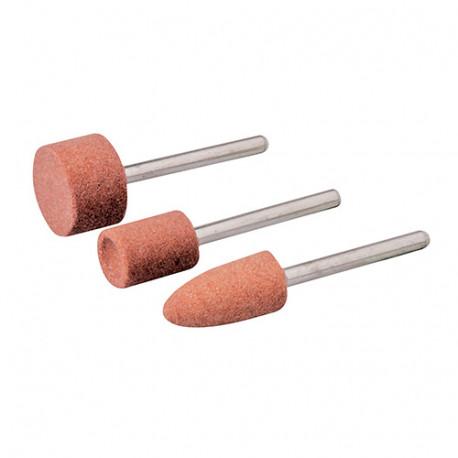 Ensemble de 3 meules pour outil rotatif - D.9, 10 et 15 mm - 282582 - Silverline