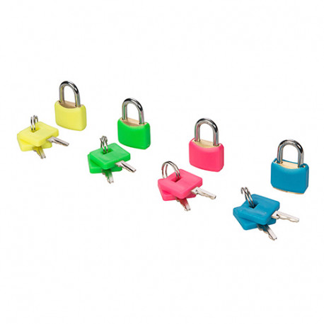 Ensemble de 4 cadenas en laiton fluo 20 mm - 282715 - Silverline