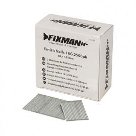 2 500 clous de finition calibre 16 - 38 x 1,55 mm - 334728 - Fixman