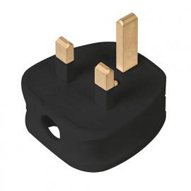 Fiche britannique avec fusible 13 A - Noire - 488289 - Powermaster