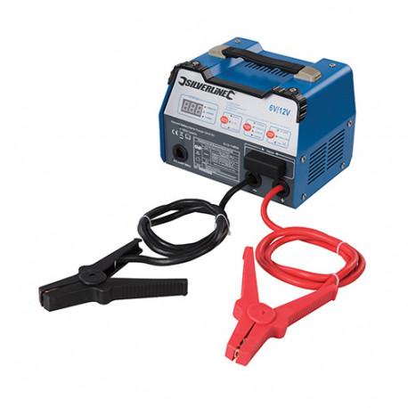 Chargeur de batterie automatique 12 A - 6 / 12 V Capacité 8 - 180 Ah - 549095 - Silverline