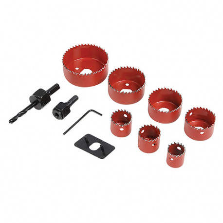 Coffret scies-cloches 11 pièces - D.21 - 64 mm - 633479 - Silverline