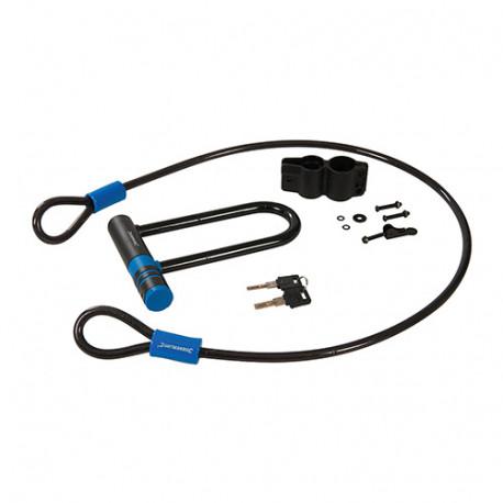 Ensemble antivol et câble 145 x 210 mm / 10 x 1 200 mm - 712996 - Silverline
