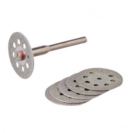 Ensemble de disques perforés diamantés pour outil rotatif D.22 mm - 6 pièces - 719813 - Silverline