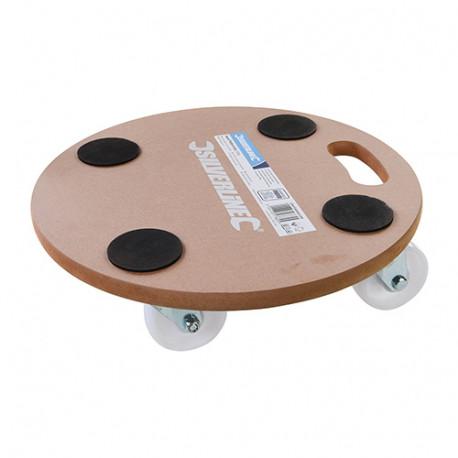 Chariot-plateforme de forme circulaire 250 kg - 739663 - Silverline