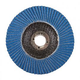 Disque à lamelles en zirconium D.100 mm Grain 80 - 763614 - Silverline
