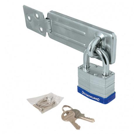 Ensemble 2 pièces cadenas et moraillon 50 mm - 786551 - Silverline