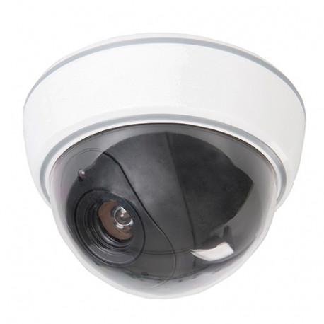 Cam ra de surveillance factice d me avec led 3 x aa 828951 silverline - Camera de surveillance factice ...