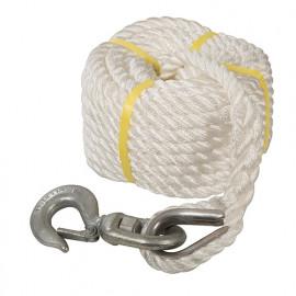 Corde à poulie manuelle avec crochet 20 m - 865628 - Silverline