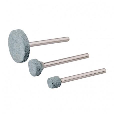 Ensemble de 3 meules pour outil rotatif - D.5, 9, 20 mm - 868811 - Silverline