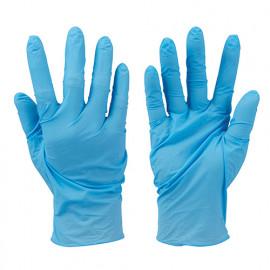 100 gants nitrile non-poudrés jetables Bleu Extra large - 944962 - Silverline
