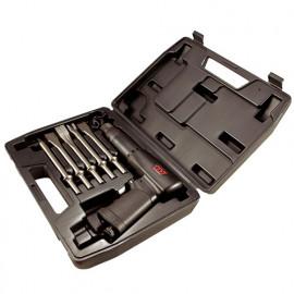 Coffret 7 pcs marteau burineur pneumatique 3200 Bpm et accessoires - SC0617C - M7
