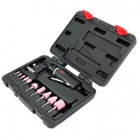 Coffret de meuleuse droite pneumatique à pince D. 3 et 6 mm 0,9 CV avec accessoires - QA0215A - M7