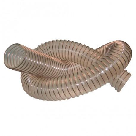 10 M de tuyau flexible d'aspiration Menuiserie D. 100 mm spire acier cuivré PUR 1,4 mm - DW-257258008 - fixtout