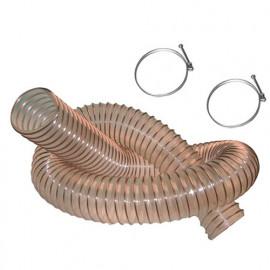 2,5 M de tuyau flexible d'aspiration PU acier cuivré D. 100 mm + 2 colliers de serrage - DW-257258001 - fixtout