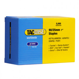 5 000 agrafes galvanisées L. 25 mm type 90 - 0308 - Tacwise