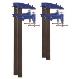 4 serre-joints à pompe 35 x 8 mm - 2 x L. 100 cm, 2 x L. 120 cm de type F - 99982 - Piher