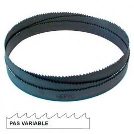 Lame de scie à ruban métal PAE 2400 x 13 x 0,65 mm x 8/12 TPI pas variable - Bi-métal M42 - 73050802400 - Hepyc