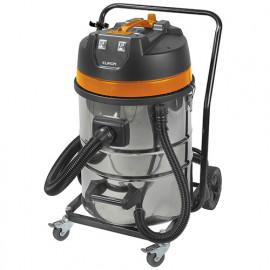 Aspirateur eau et poussières pro INOX 70 litres 2 moteurs et chariot - 230 V 2000 W - Force 2070 wet-dry - 161342 - Eurom