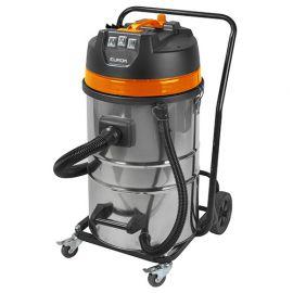 Aspirateur eau et poussières pro INOX 80 litres 3 moteurs et chariot - 230 V 3000 W - Force 3080 wet-dry - 161373 - Eurom