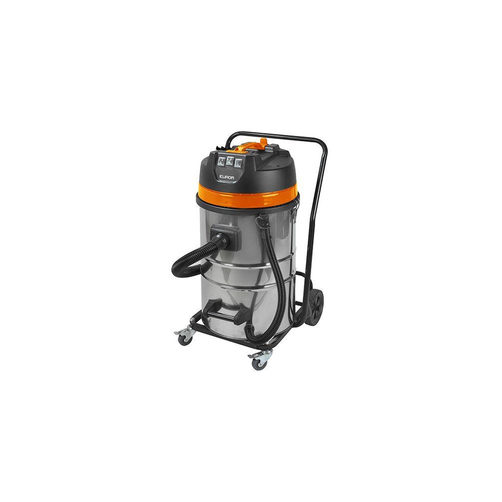 ed7f338928c165 Aspirateur eau et poussières pro INOX 80 litres 3 moteurs et chariot - 230  V 3000 W ...