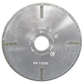 Disque diamant pro SUB-ZERO D. 125 x Al. 22,23 x Ht. 5 mm - verre, marbre, fibre de verre - fixtout Platinum