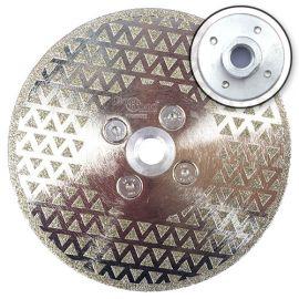 Disque diamant à couper et poncer pro DARK KNIGHT D. 125 x M14 x Ht. 3 mm - marbre, PVC, tuile - fixtout Platinum
