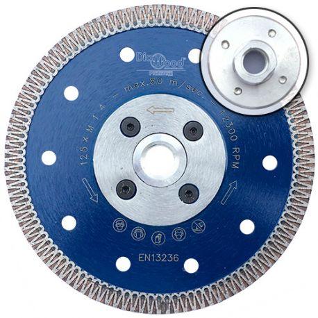 Disque diamant pro SCORPION D. 125 x flasque M14 x Ht. 8,5 x ép. 1,3 mm - grès cérame, granite, marbre - fixtout Platinum