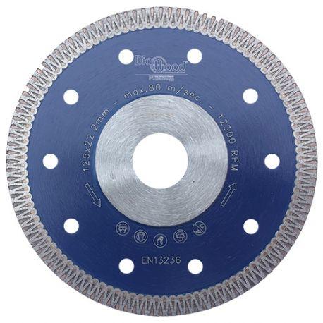 Disque diamant pro SCORPION D. 125 x Al. 22,23 x Ht. 8,5 x ép. 1,3 mm - grès cérame, granite, marbre - Diamwood Platinum