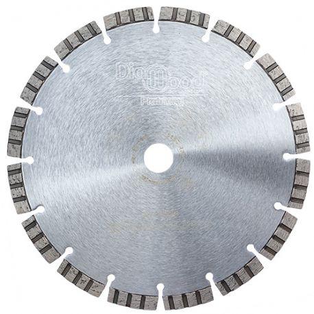 Disque diamant pro ODIN D. 230 x Al. 22,23 x Ht. 10 mm - béton armé, granit, matériaux de construction - Diamwood Platinum