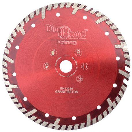 Disque diamant pro ULTRA SONIC D. 230 x Al. 22,23 x Ht. 10 mm - tuile, granit, béton armé - Diamwood Platinum