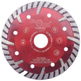 Disque diamant pro ULTRA SONIC D. 125 x Al. 22,23 x Ht. 10 mm - tuile, granit, béton armé - fixtout Platinum
