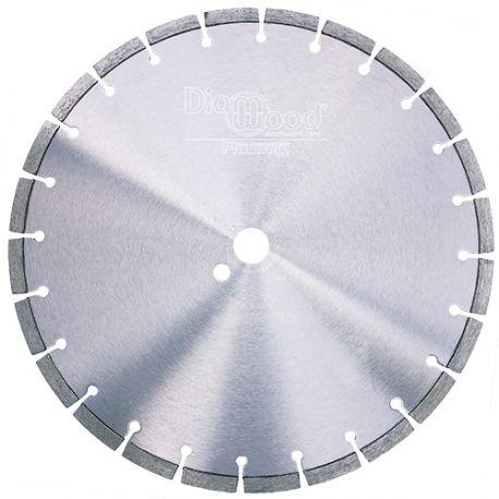 Disque diamant pro BLACK CROW D. 350 x Al. 25,4 x Ht. 10 mm - granite, marbre, pierre, béton armé - Diamwood Platinum