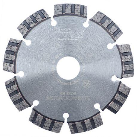 Disque diamant AQUARIUS D. 125 x Al. 22,23 x Ht. 10 mm - béton armé, béton, matériaux de construction - fixtout