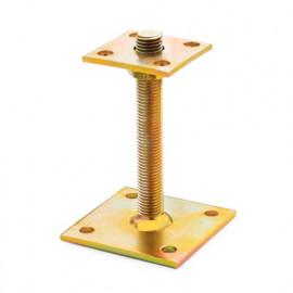 1 fixation de poteaux Bichromaté, hauteur réglable, 100 x 150 x 150 x M20 mm - APAR150 - Index