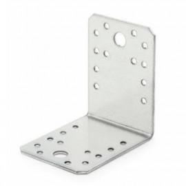 50 équerres galvanisées à chaud d'assemblage, perforée, trous tailles différentes 70 x 70 x 55 mm - SCED070705 - Index