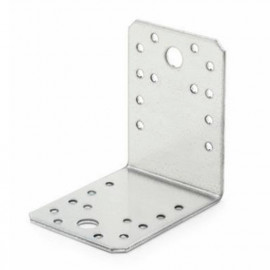 50 équerres galvanisées à chaud d'assemblage, perforée, trous tailles différentes 90 x 90 x 40 mm - SCED090904 - Index